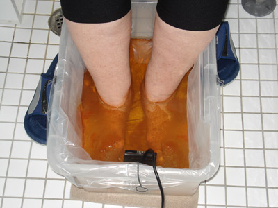 Ionic detoxification foot bath